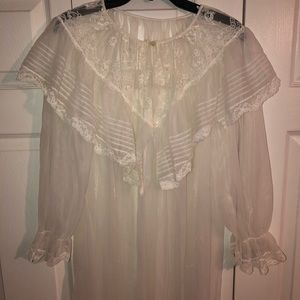 Vintage lace lingerie sleep cover up